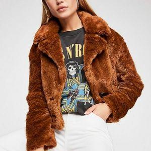 ONE DAY NWOT Mena Faux Fur Jacket